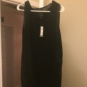 Large NWT Black Worthington mid dress